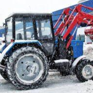 трактор пум С ЩЕТКОЙ И ПЕРЕДНИМ ОТВАЛОМ