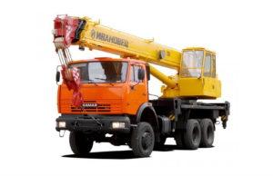 Автокран 25 тонн/ 28 метров