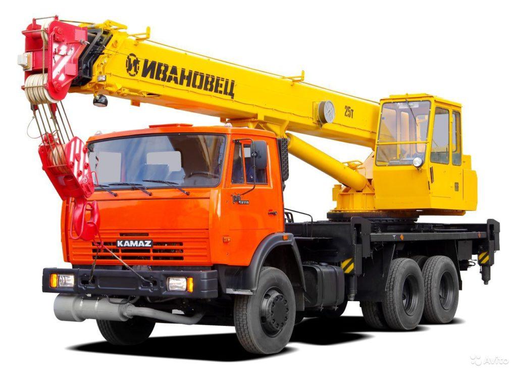Автокран 25 тонн стрела 22 метра