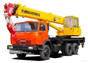 Автокран 25 тонн/ 22 метра
