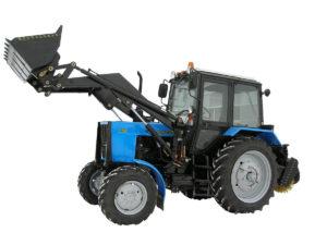 Погрузочно-уборочная  машина (ПУМ) с щеткой и фронтальным ковшом